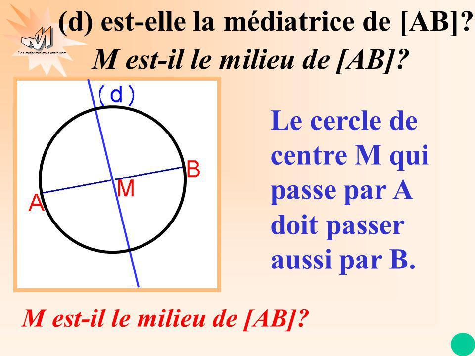 (d) est-elle la médiatrice de [AB] M est-il le milieu de [AB]
